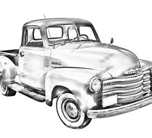 1947 Chevrolet Thriftmaster Pickup Illustration by KWJphotoart