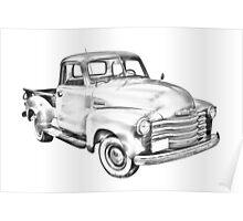 1947 Chevrolet Thriftmaster Pickup Illustration Poster