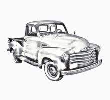 1947 Chevrolet Thriftmaster Pickup Illustration Kids Clothes