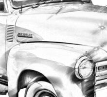 1947 Chevrolet Thriftmaster Pickup Illustration Sticker