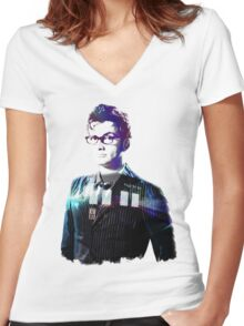 David Tennant - Doctor Who Women's Fitted V-Neck T-Shirt