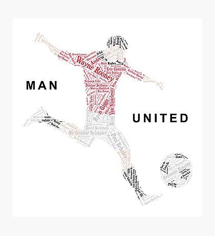 Man United Gift - Top Scorers Photographic Print