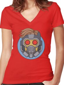 Lord of the Galaxy Women's Fitted V-Neck T-Shirt