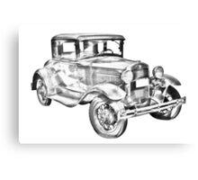 Antique Ford Molel A Illustration Canvas Print