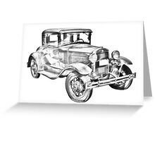 Antique Ford Molel A Illustration Greeting Card