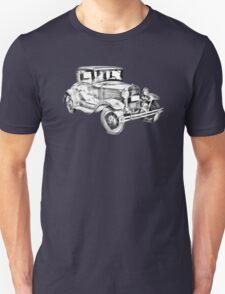 Antique Ford Molel A Illustration T-Shirt