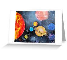 Spray Paint Art- Solar System Greeting Card