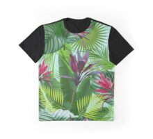 Tropical flowers and leaves Graphic T-Shirt