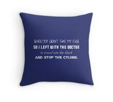 Mash Up - Doctor Who, Sherlock, Firefly, Serenity, Battlestar Galactica Throw Pillow