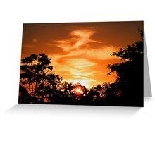 Brisbane Sunset Greeting Card
