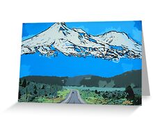 Abstract Painting Mt Everest Greeting Card