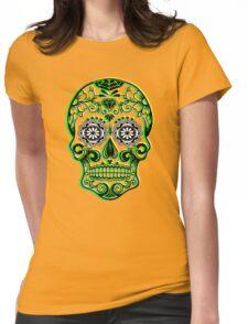 Sugar Skull - Calavera Womens Fitted T-Shirt