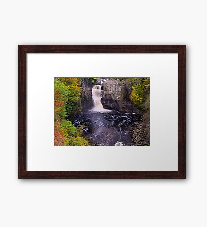 Autumnal High force Waterfall, Teesdale, Uk Framed Print