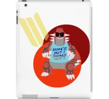 Sun's out, guns out. iPad Case/Skin