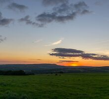 Affetside Sunset. by Dave Staton