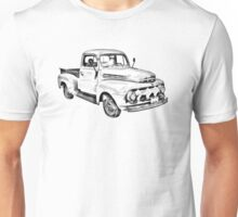 1951 ford F-1 Pickup Truck Illustration Unisex T-Shirt