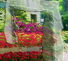 Flowers_with _house. by Robert Elfferich