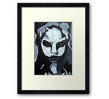 Sinister Zombie- Zombie Girl Painting  Framed Print