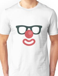 FUNNY FACE ICON- Clown With Glasses Unisex T-Shirt