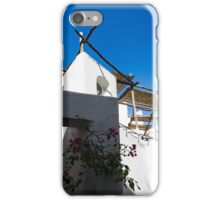 Whitewashed Mediterranean Courtyard - a Charming Traditional Home on Capri Island, Italy iPhone Case/Skin