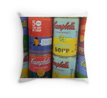 Warhol Soups Throw Pillow