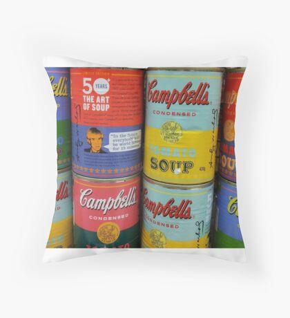 Warhol Soups Throw Pillow