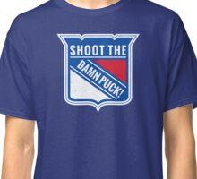 New York Rangers - Shoot The Damn Puck! Classic T-Shirt