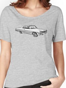 1964 Chevrolet Impala Muscle Car Illustration Women's Relaxed Fit T-Shirt