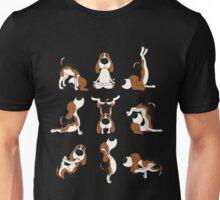 Funny Dogs Yoga Positions Hatha T-Shirt Unisex T-Shirt