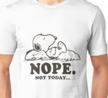 Snoopy Nope Not Today Unisex T-Shirt