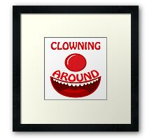 CLOWNING AROUND - Text And Icon Clown Design Framed Print
