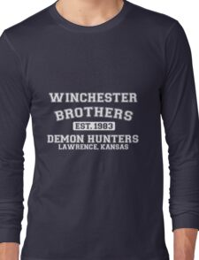Winchester Brothers Est 1983 Demon Hunters Lawrence Kansas Long Sleeve T-Shirt