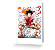 luffy power Greeting Card
