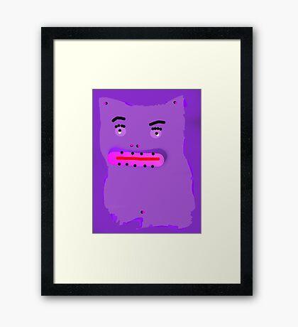 silly  cat Framed Print