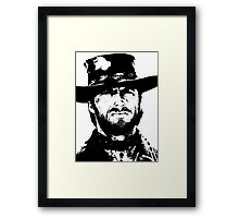 Clint Eastwood -Blondie Framed Print