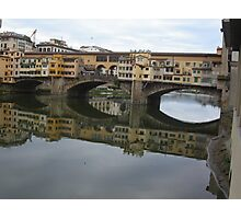 REFLECTIONS OF THE ARNO IN FLORENCE - ITALY -  VETRINA RB EXPLORE GIUGNO 2014 -EUROPE - WORLD Photographic Print