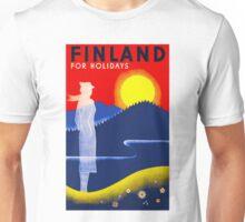FINLAND; Travel & Tourism Advertising Print Unisex T-Shirt