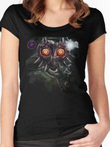 Legend of Zelda Majora's Mask Dark Link Women's Fitted Scoop T-Shirt