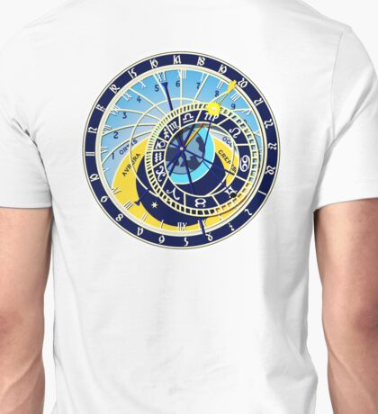 Astronomical, Clock, Prague, Orloj, Czech Unisex T-Shirt