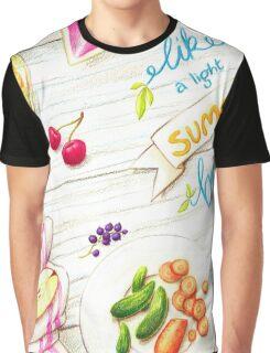 """wall art """"like a light summer breeze"""" Graphic T-Shirt"""