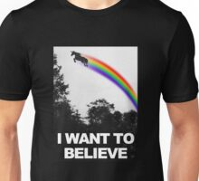 I want to believe unicorn parody Unisex T-Shirt