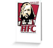 Colonel Sandor: The hound fried chicken (HFC) - Kentucky parody.  Greeting Card