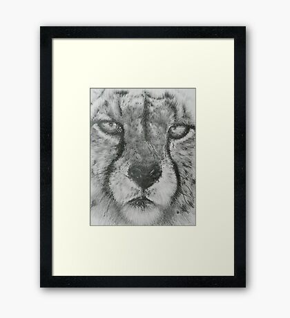 Up Close Cheetah Framed Print