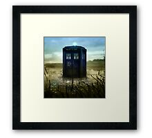 Blue Box - Splash Down Framed Print