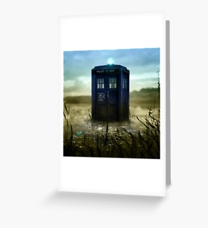 Blue Box - Splash Down Greeting Card