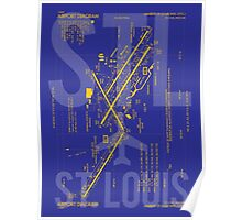 STL St. Louis Airport Diagram Poster