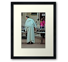 A Candle For Your thoughts.... Framed Print