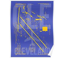 CLE Cleveland Airport Diagram Poster