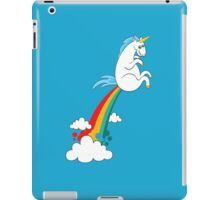 funny unicorn rainbow fart cloud making rainbow iPad Case/Skin