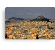 Mount Lycabettus Canvas Print